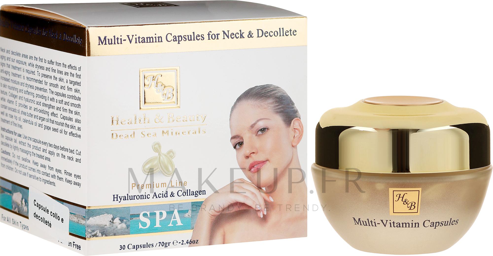 Soin en capsules à l'acide hyaluronique et collagène pour cou et décolleté - Health And Beauty Multi-Vitamin Capsules For Neck And Decollete — Photo 30 pcs.