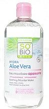 Parfums et Produits cosmétiques Eau micellaire apaisante pour visage, yeux et lèvres - So'Bio Etic Hydra Aloe Vera Soothing Micellar Water