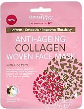 Parfums et Produits cosmétiques Masque tissu anti-âge au collagène et aloe vera pour visage - Derma V10 Woven Face Mask Anti Ageing Collagen