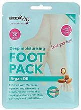 Parfums et Produits cosmétiques Masque-chaussettes à l'huile d'argan pour pieds - Derma V10 Foot Mask Argan Oil