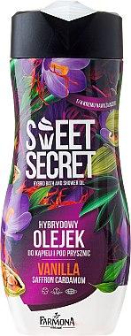 Huile de bain et de douche hybride, Vanille, Safran et Cardamome - Farmona Sweet Secret Vanilla Hybrid Bath And Shower Oil