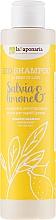 """Parfums et Produits cosmétiques Shampooing séborégulateur à l'huile de lin pour cheveux gras ,""""Sauge et citron vert"""" - La Saponaria Salvias & Limone Bio Shampoo"""