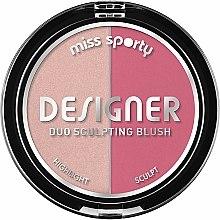 Parfums et Produits cosmétiques Blush et enlumineur - Miss Sporty Draping Designer Duo Sculpting Blush