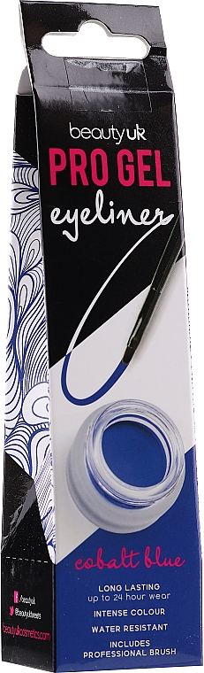 Eyeliner gel waterproof en pot - Beauty UK Pro Gel Eyeliner (03 -Cobalt Blue)