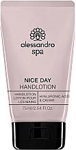 Parfums et Produits cosmétiques Lotion à l'acide hyaluronique et caviar pour mains - Alessandro International Spa Nice Day Hand Lotion