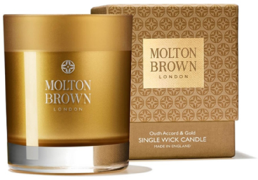 Molton Brown Mesmerising Oudh Accord & Gold Single Wick Candle - Bougie parfumée — Photo N1