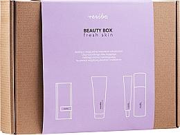 Parfums et Produits cosmétiques Resibo Fresh Skin - Coffret cadeau(accessorie/1pcs + gel nettoyant/125ml + crème visage/50ml)