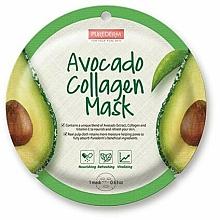 Parfums et Produits cosmétiques Masque tissu à l'extrait d'avocat et collagène pour visage - Purederm Avocado Collagen Mask