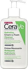 Parfums et Produits cosmétiques Crème moussante à l'acide hyaluronique pour visage - CeraVe Hydrating Cream To Foam Cleanser For Normal To Dry Skin
