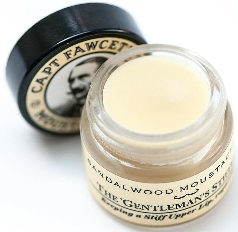 Captain Fawcett Sandalwood - Set (cire à moustache/15ml + peigne à moustache/1pcs) — Photo N4