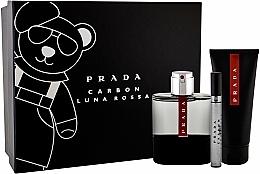 Parfums et Produits cosmétiques Prada Luna Rossa Carbon - Coffret (eau de toilette/100ml + gel douche/100ml + eau de toilette/10ml)