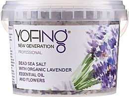 Parfums et Produits cosmétiques Sels de bain à l'huile essentielle de lavande - Yofing Dead Sea Salt With Organic Lavender Essensial Oil And Flowers