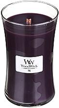 Parfums et Produits cosmétiques Bougie parfumée avec mèche en bois, Figue - WoodWick Hourglass Candle Fig