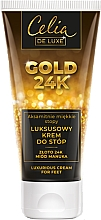 Parfums et Produits cosmétiques Crème à l'Or 24K et miel pour pieds - Celia De Luxe Gold 24K Luxurious Foot Cream