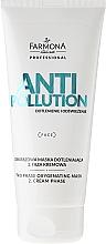 Parfums et Produits cosmétiques Masque crème bi-phasé détoxifiant oxygénant pour visage - Farmona Professional Anti Pollution Face Mask