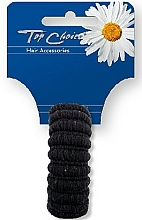 Parfums et Produits cosmétiques Élastique à cheveux, noir, 22814 - Top Choice