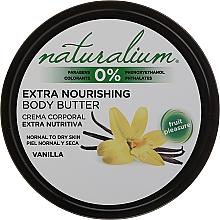 Parfums et Produits cosmétiques Beurre à l'huile d'argan et karité pour le corps - Naturalium Vainilla Extra Nourishing Body Butter