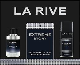 Parfums et Produits cosmétiques La Rive Extreme Story - Set (eau de toilette/75ml+déodorant spray/150ml)