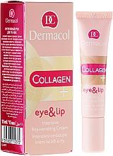 Parfums et Produits cosmétiques Crème au collagène pour contour des yeux et lèvres - Dermacol Collagen+ Eye & Lip Cream