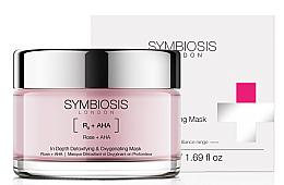 Parfums et Produits cosmétiques Masque à la rose et acides AHA pour visage - Symbiosis London In Depth Detoxifying & Oxygenating Mask