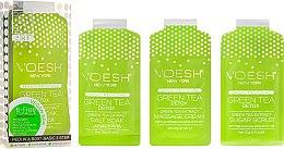 Parfums et Produits cosmétiques Soin des pieds en trois étapes au thé vert - Voesh Pedi In A Box 3 In 1 Deluxe Pedicure Green Tea