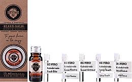 Parfums et Produits cosmétiques Beviro Grapefruit Cinnamon Sandal Wood - Set (huile à barbe/10ml + baume à barbe/15ml + eau de Cologne/5x1ml)