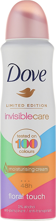 Déodorant spray anti-transpirant - Dove Invisible Care Floral Touch Antiperspirant Limited Edition