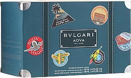 Parfums et Produits cosmétiques Bvlgari Aqva Pour Homme - Coffret (eau de toilette/100ml + baume après-rasage/100ml + trousse de toilette)