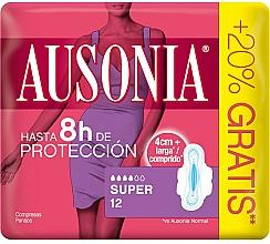 Parfums et Produits cosmétiques Protège-slips avec ailes, 12 pcs - Ausonia Super Plus Towels