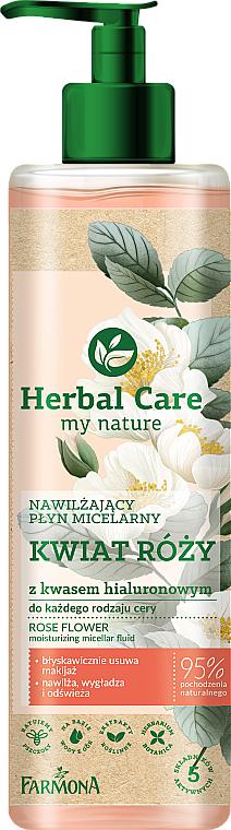 Eau micellaire à l'acide hyaluronique et fleur de rose pour visage - Farmona Herbal Care Micellar Water