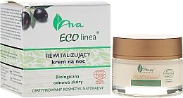 Parfums et Produits cosmétiques Crème de nuit revitalisante à l'huile d'olive - Ava Laboratorium Eco Linea Revitalizing Night Cream