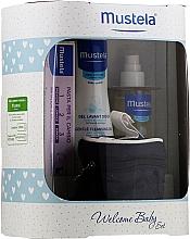 Parfums et Produits cosmétiques Coffret cadeau - Mustela Welcome Baby Set Blue (b/gel/200ml + b/cr/50ml + b/oil/100ml + case)