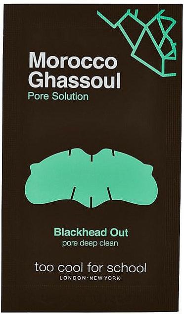 Soin des pores du nez en trois étapes - Too Cool For School Morocco Ghassoul Blackhead Out