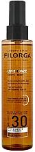 Parfums et Produits cosmétiques Filorga UV-Bronze Body Tan Activating Anti-Ageing Sun Oil SPF 30 - Huile sèche anti-âge activatrice de bronzage à l'huile d'argan
