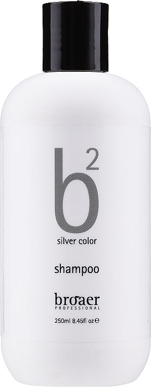 Shampooing pour cheveux blonds et gris - Broaer B2 Silver Color Shampoo