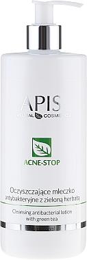 Lotion nettoyante antibactérienne au thé vert pour visage - APIS Professional Cleansing Antibacterial Lotion