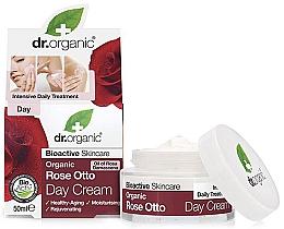 Parfums et Produits cosmétiques Crème de jour à l'huile de rose de Damas bio - Dr. Organic Bioactive Skincare Rose Otto Day Cream