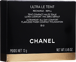 Parfums et Produits cosmétiques Fond de teint compact (recharge) - Chanel Ultra Le Teint Ultrawear All-Day Comfort Flawless Finish Compact Foundation