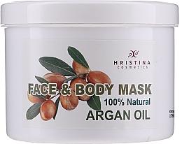Parfums et Produits cosmétiques Masque à l'huile d'argan pour visage et corps - Hristina Cosmetics Face & Body Mask Argan Oil
