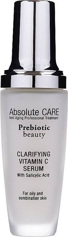 Sérum à la vitamine C et acide salicylique pour visage - Absolute Care Prebiotic Beauty Clarifying Vitamin C Serum