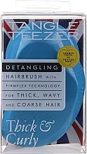 Parfums et Produits cosmétiques Brosse à cheveux démêlante, bleu - Tangle Teezer Thick & Curly Azure Blue