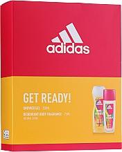 Parfums et Produits cosmétiques Adidas Get Ready! For Her - Set (déodorant/75ml+gel douche/250ml)