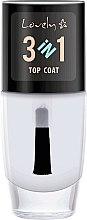 Parfums et Produits cosmétiques Top coat 3 en 1 - Lovely Top Coat 3in1