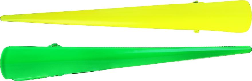 Barrettes à cheveux, 25143, jaune et vert - Top Choice — Photo N2
