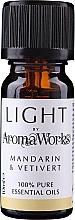 Parfums et Produits cosmétiques Huile essentielle Mandarine et vétiver - AromaWorks Light Range Mandarin and Vetivert Essential Oil