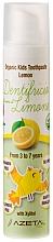 Parfums et Produits cosmétiques Dentifrice à l'arôme de citron - Azeta Bio Organic Kids Toothpaste Lemon