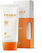 Parfums et Produits cosmétiques Crème solaire éclaircissante à la vitamine B3 - Frudia Tone Up Base Sun Cream SPF50