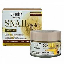 Parfums et Produits cosmétiques Crème de jour à l'extrait d'escargot - Victoria Beauty Snail Gold Argan Oil Day Cream