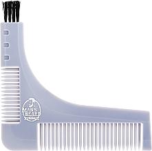 Parfums et Produits cosmétiques Pochoir à barbe avec peigne à barbe intégré, gris - Man'S Beard