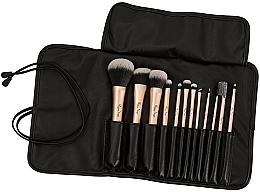 Parfums et Produits cosmétiques Kit pinceaux de maquillage en étui noir, 12pcs - Peggy Sage